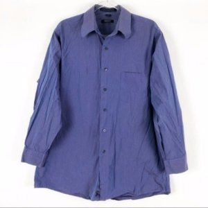 DKNY | 16 1/2 32-33 - 42 | Blue Dress Shirt